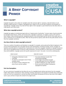 Copyright and Open Licensing Primer